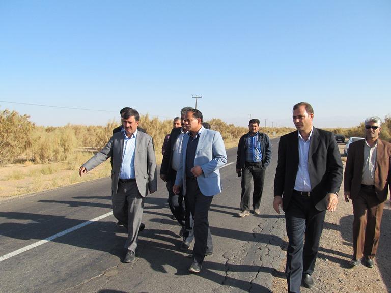 بازديد فرماندار از راههاي ارتباطي شهرستان سرايان